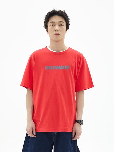 VIISHOW男装品牌2020春夏新款短袖T恤男 青春校园情侣装上衣圆领半袖打底衫
