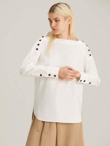 Jaspal国际品牌品牌2020春夏纯棉长袖波点长袖