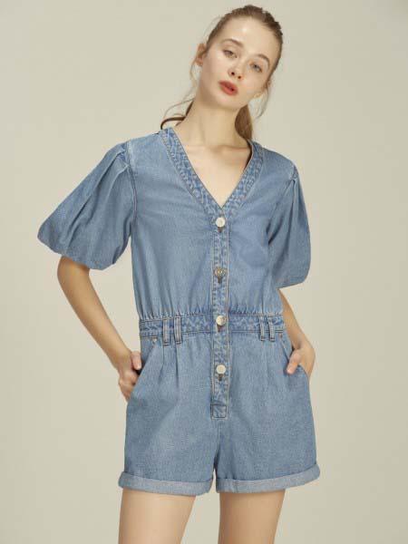 Jaspal国际品牌品牌2020春夏时尚知性连体牛仔裤