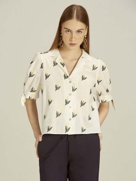 Jaspal国际品牌品牌2020春夏复古衬衫短袖