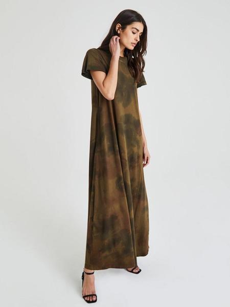 AG jeans国际品牌2020春夏宽松长款连衣裙