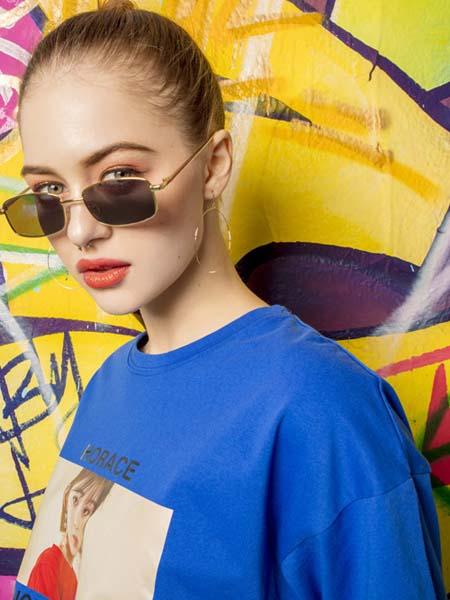 MYMIX(我的组合)女装品牌2020春夏蓝色T恤