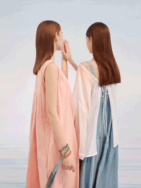 羽涵茜女装品牌2020春夏无袖粉色连衣裙