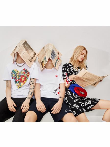 CDG男装品牌2020春夏印花纯棉T恤