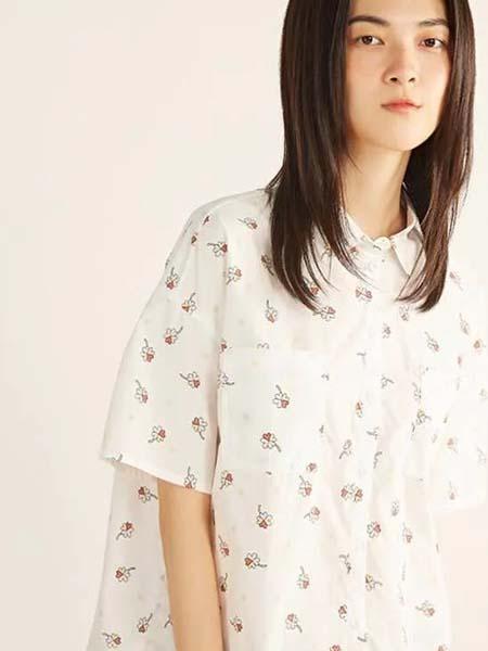 ClothScenery布景女装品牌2020春夏小白碎花白色衬衫