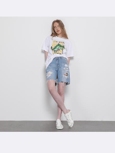 SJYP国际品牌2020春夏纯棉印花透气短袖