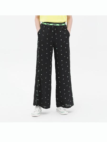 SJYP国际品牌2020春夏时尚波点休闲裤子宽松裤