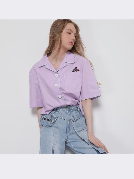 SJYP国际品牌2020春夏复古衬衫短袖