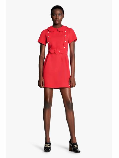 路易威登国际品牌品牌2020春夏复古时尚显瘦连衣裙时尚