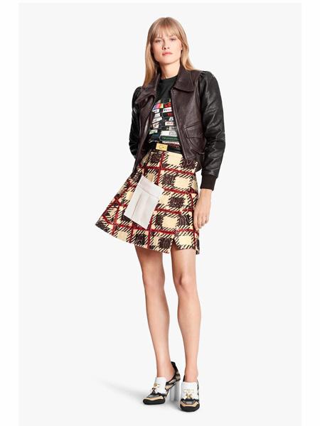 路易威登国际品牌品牌2020春夏时尚复古皮夹克