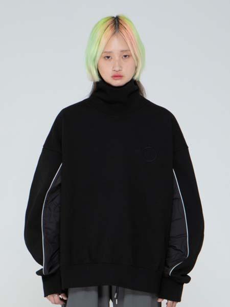 de-nage国际品牌品牌加绒宽松保暖圆领卫衣