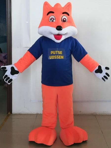 狐狸卡通服厂家直销来图定制毛绒宣传卡通服人偶服装