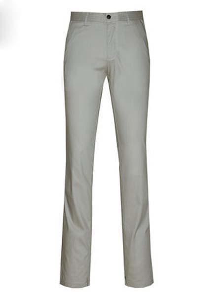 欧尼杰女装品牌2020春夏灰色上班商务休闲裤直筒修身天丝混纺舒适微弹