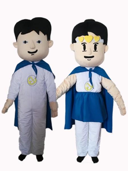 卡通服披风男女生厂家直销来图定制毛绒宣传卡通服人偶服装
