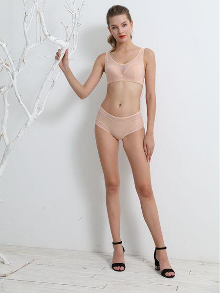 贝秀妮内衣品牌2020春夏水晶粉色内衣套装