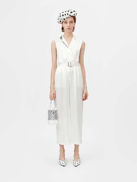 飘蕾女装品牌2020春夏无袖白色连衣裙