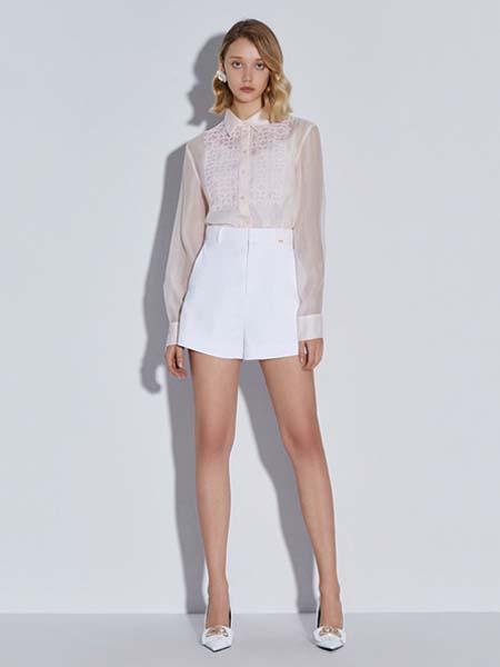 欧时力女装品牌2020德赢官方网站app牛仔短裤白色