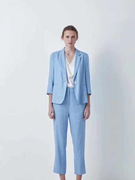 唯尚VESAS女装品牌2020春夏蓝色西装套装
