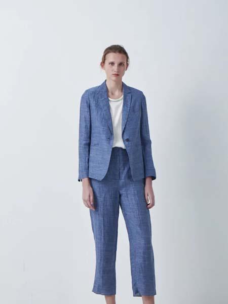 唯尚VESAS女装品牌2020春夏深蓝色西装套装