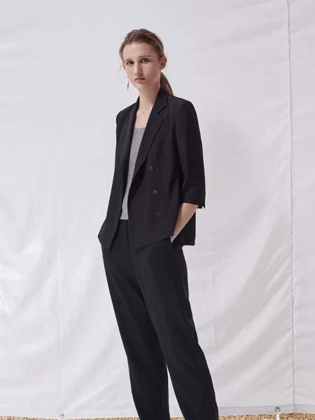 唯尚VESAS女装品牌2020春夏黑色西装套装