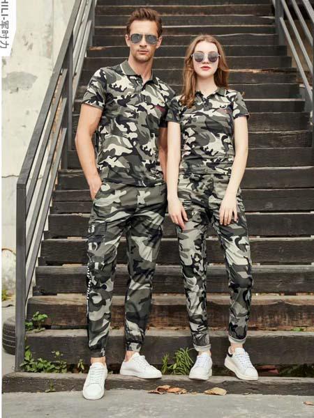 军时力男装品牌2020春夏迷彩休闲长裤T恤
