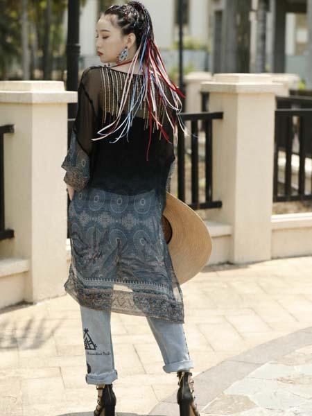 AttinaLife阿缇娜女装品牌2020春夏黑色网纱罩衫内搭黑色小背心