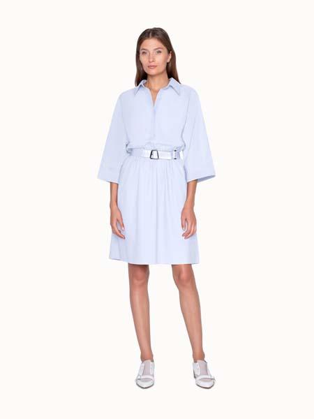 艾克瑞斯国际品牌2020春夏收腰衬衫连衣裙