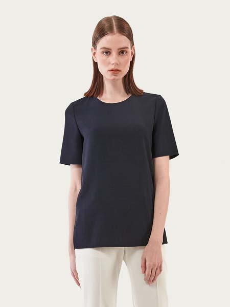 andyndebb国际品牌2020春夏纯色灰色短袖