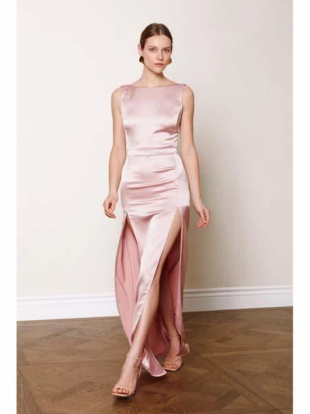 Undress国际品牌品牌2020春夏知性气质修身连衣裙