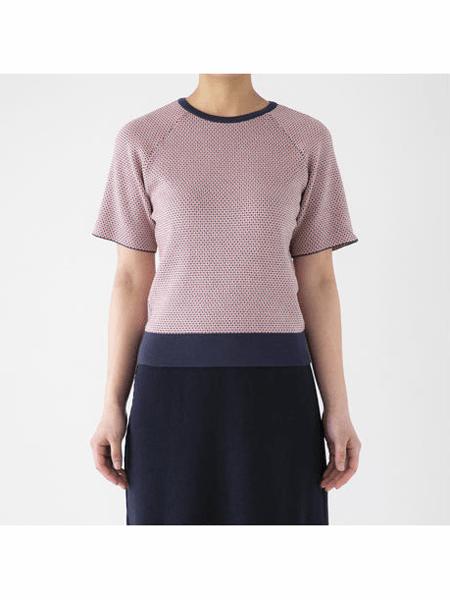 Kaapio国际品牌品牌2020春夏短款粉色短袖