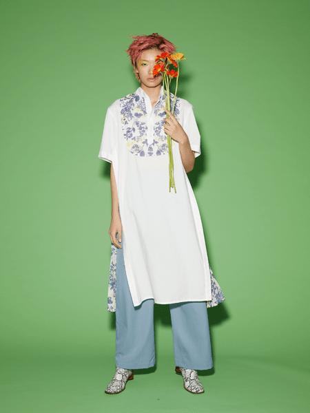 Viviano Sue国际品牌2020春夏长款棉麻上衣