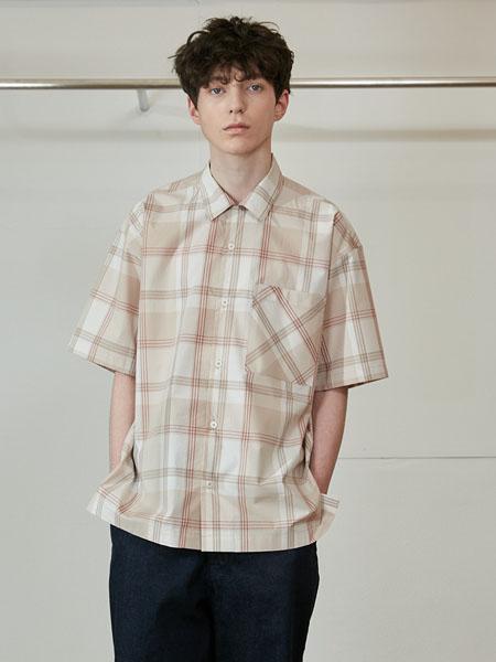 Horlisun国际品牌2020春夏复古格子衬衫短袖