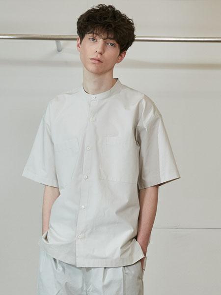 Horlisun国际品牌2020春夏黑白条纹纯棉短袖