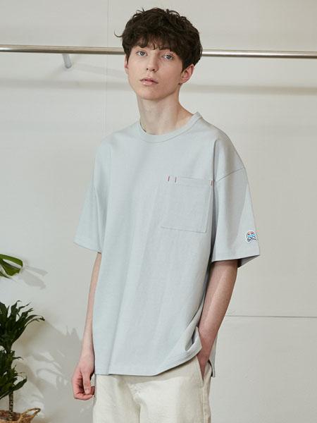 Horlisun国际品牌2020春夏纯色圆领T恤