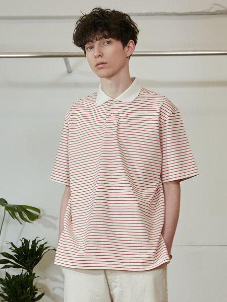 Horlisun国际品牌2020春夏条纹翻领纯棉短袖