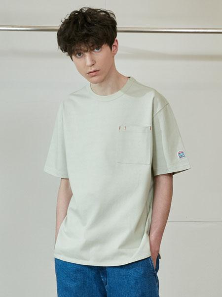 Horlisun国际品牌品牌2020春夏纯色圆领T恤