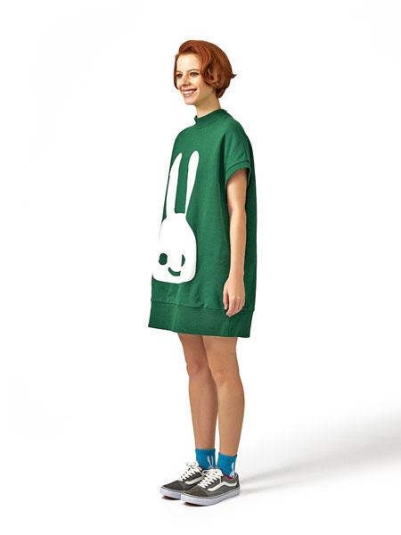 CUNE国际品牌品牌2020春夏短款小兔子裙子