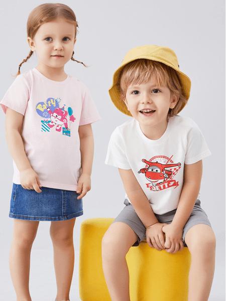 安奈儿童装品牌2020春夏印花圆领短袖