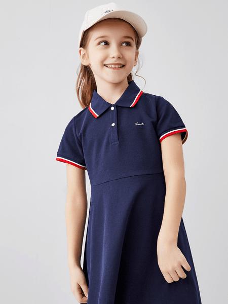 安奈儿童装品牌2020春夏纯棉运动连衣裙
