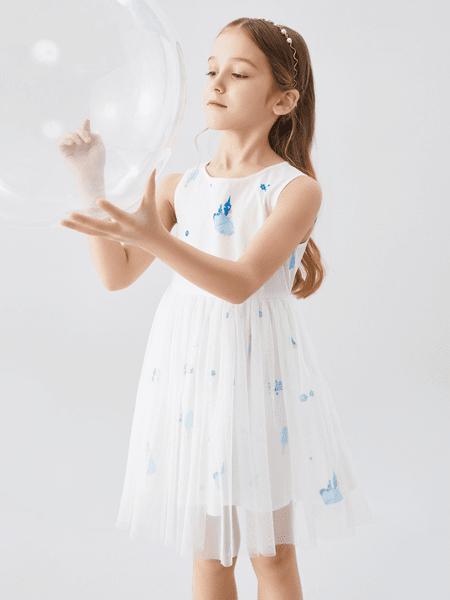 安奈儿童装品牌2020春夏时尚女童连衣裙