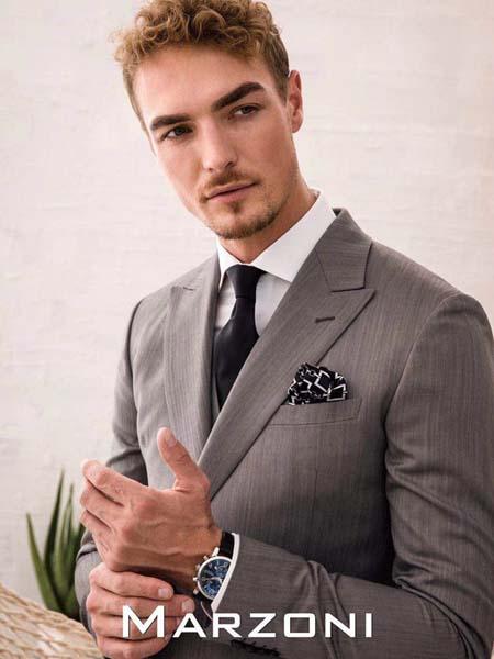 宛溢WANYIT男装品牌2020春夏灰色西装外套