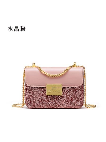 LA FESTIN拉菲斯汀箱包品牌2020春夏新款时尚小香风菱格链条真皮女包单肩斜挎小方包