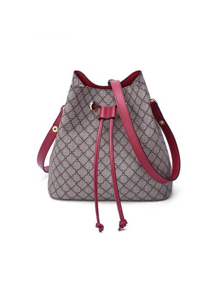 卡丹路皮具箱包品牌包包女包新款潮百搭小方包复古牛皮撞色单肩包斜挎包小包