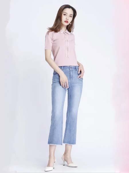 浩洋国际女装品牌2020春夏粉色雪纺衫