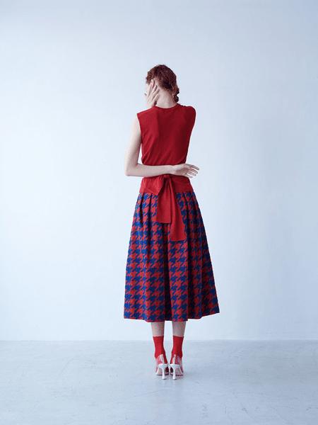 SHE Tokyo国际品牌2020春夏简约格子半身裙