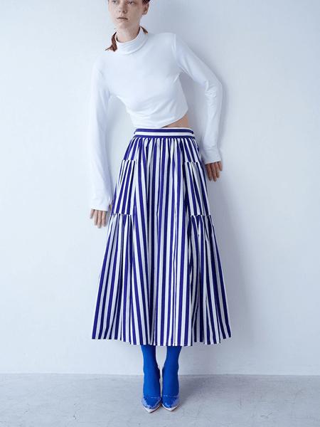 SHE Tokyo国际品牌2020春夏纯棉条纹半身裙