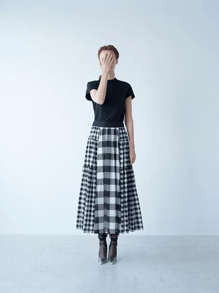 SHE Tokyo国际品牌2020春夏简约格子套装裙