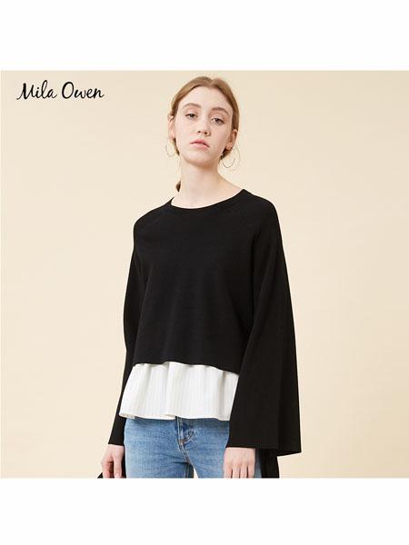 Mila Owen国际品牌2020春夏显瘦喇叭袖上衣