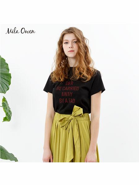 Mila Owen国际品牌2020春夏圆领纯棉短袖