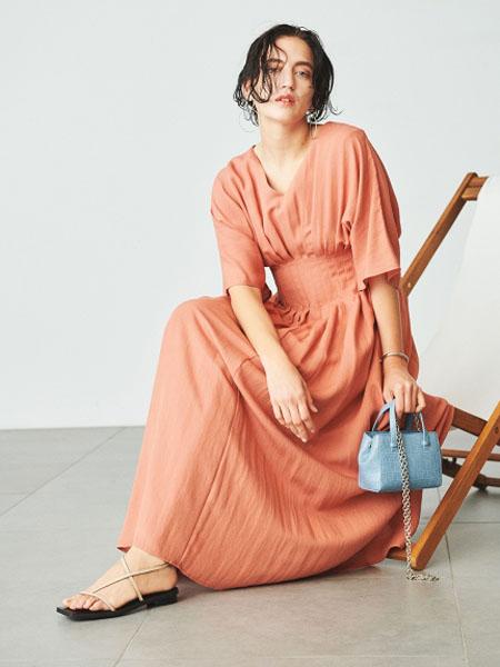 usagi-online国际品牌2020春夏知性棉麻连衣裙